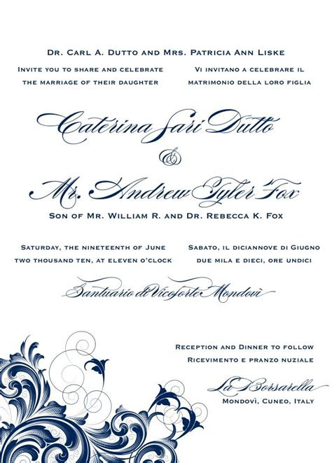 bilingual letterpress wedding invitation design rana