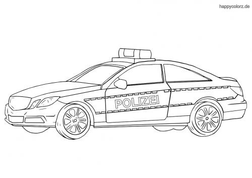 polizeiauto malvorlagen zum ausdrucken