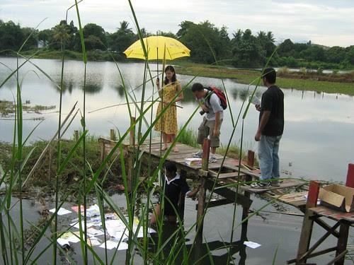 Prepping the pond scene for Carmen Soo 2