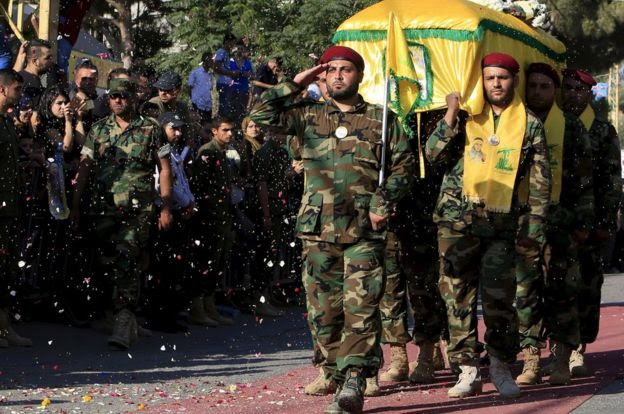 Hezbollah funeral in Lebanon, 11 Aug 15