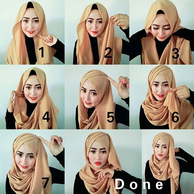 how to wear niqab with scarf step by step