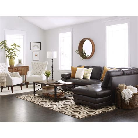 abbyson devonshire leather tufted sectional