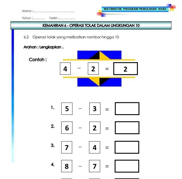 Soalan Pemulihan Matematik Tahun 6 J Kosong S