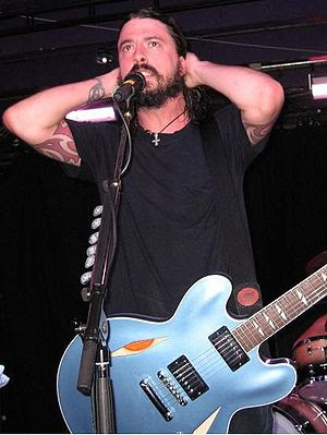 Photo of Dave Grohl of the Foo Fighters. Taken...