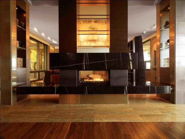 Quaker Bluff Residence - contemporary - living room - burlington ...