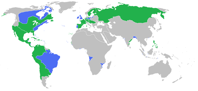 The participants of the Seven Years' War
