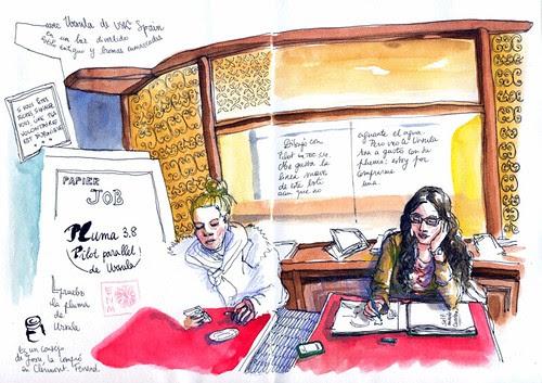 Ursula USK Spain and fountain pen