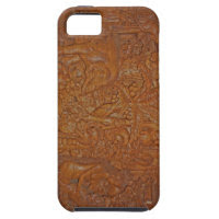 Vintage Bali Wood Art iPhone 5 Cases