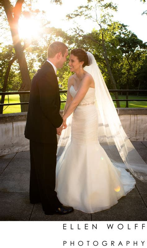 bride and groom at Muttontown Country Club   Ellen Wolff