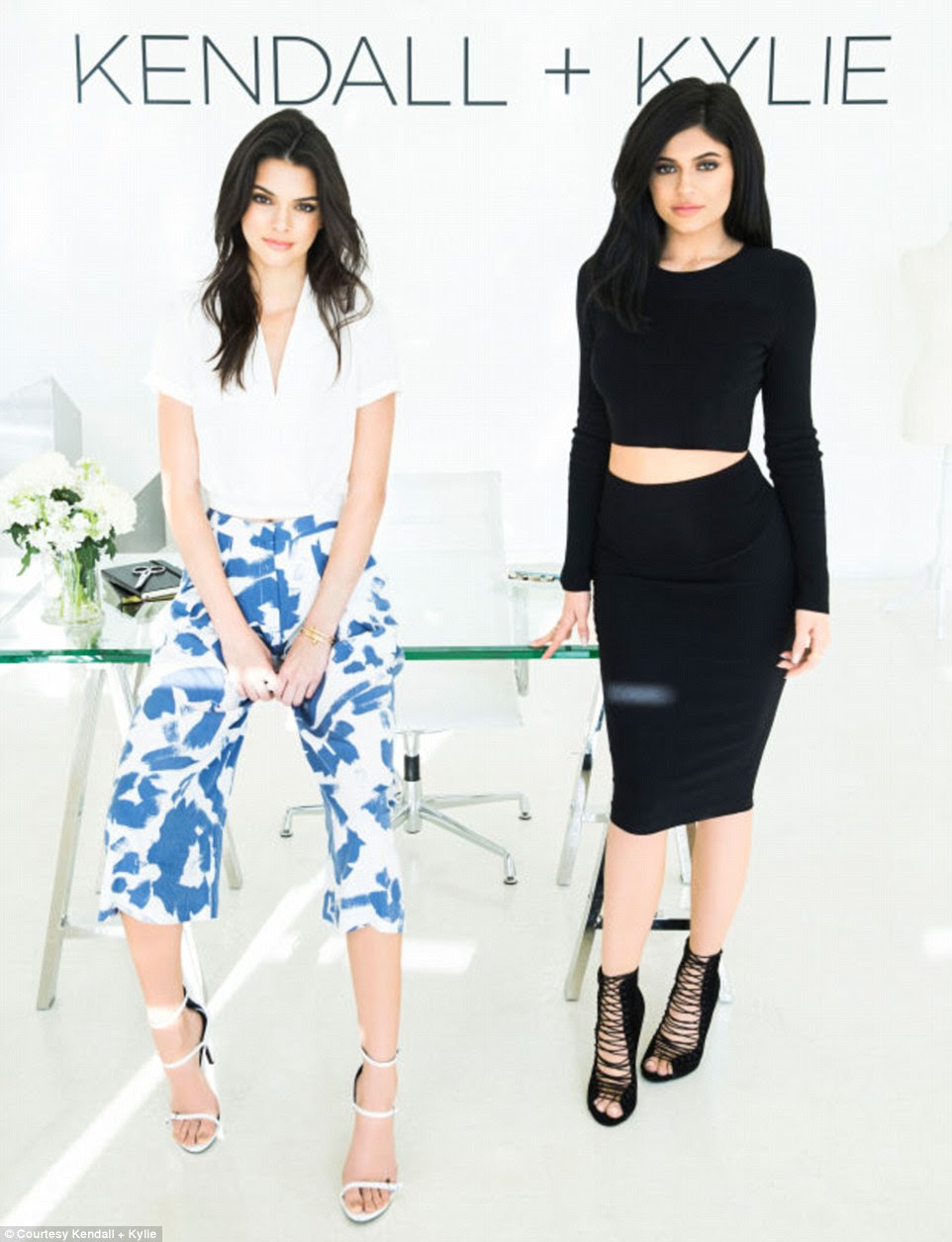 Dream team: Kendall and Kylie Jenner have just unveiled the debut collection from their eponymous Kendall + Kylie line