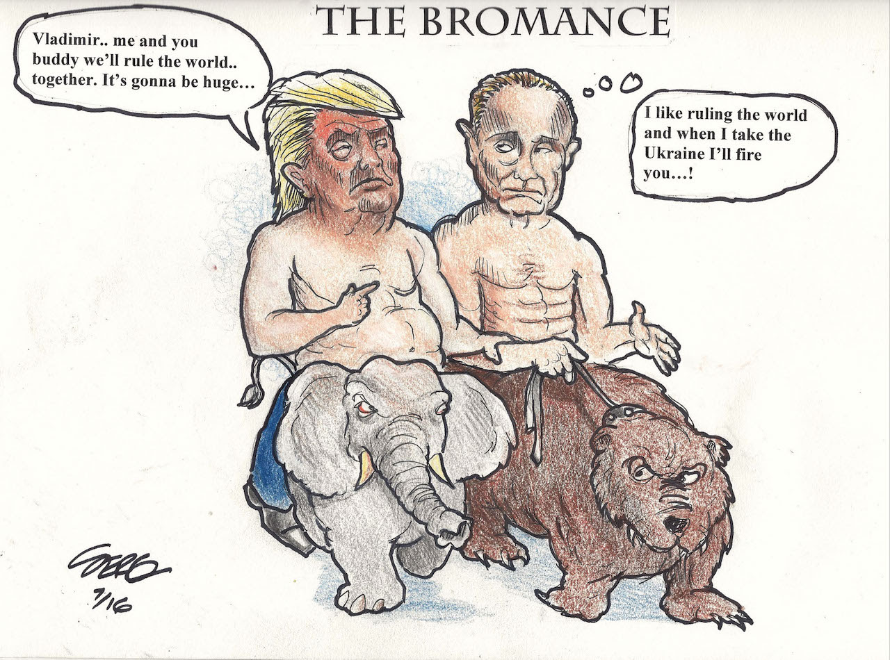 Image result for Donald Trump Putin vladimir cartoon