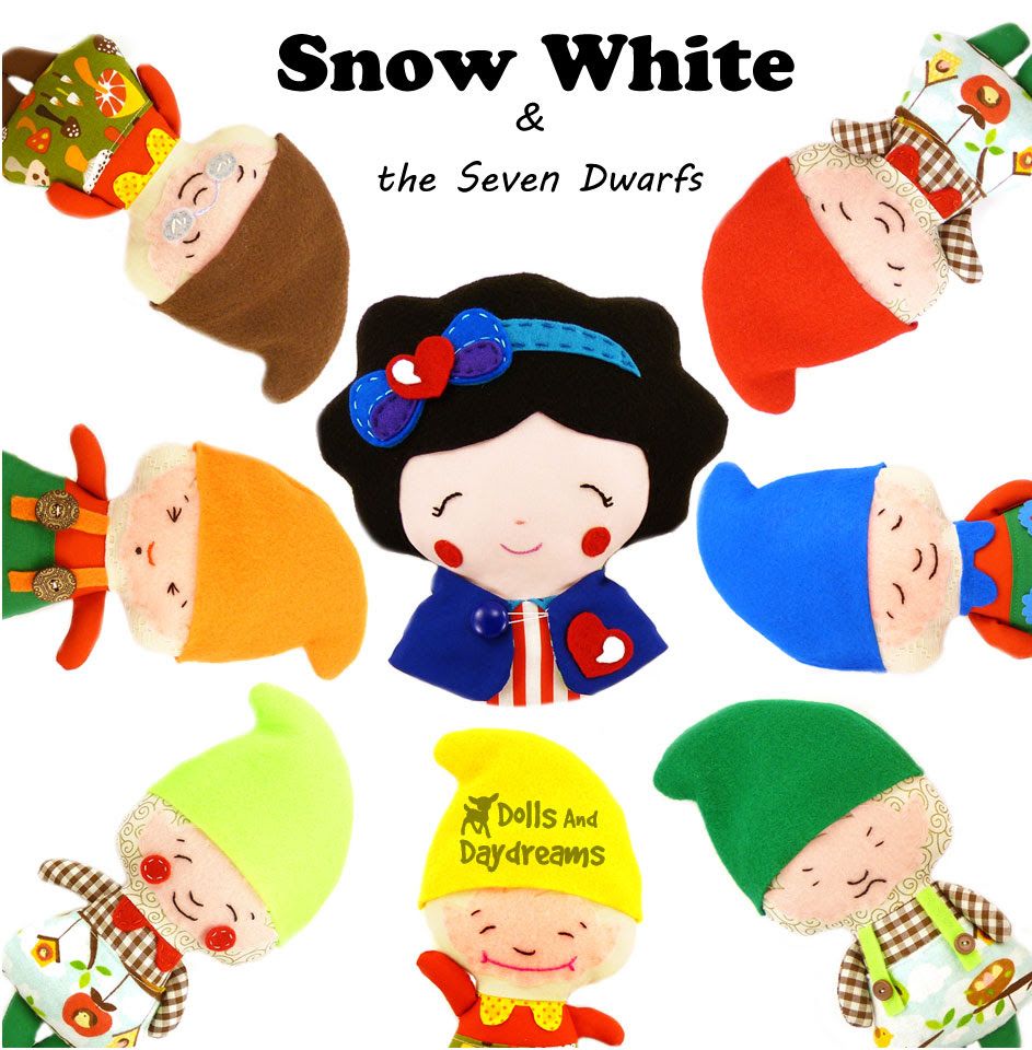 Snow-White and the Seven Dwarfs Sewing Pattern