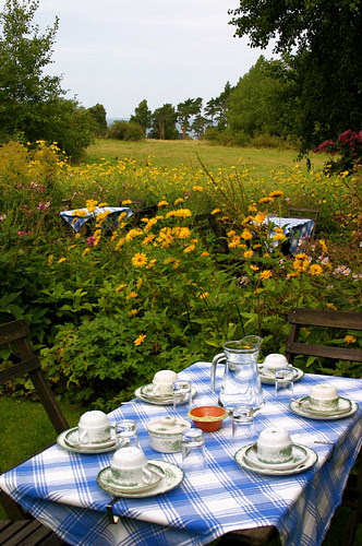 our table in the garden