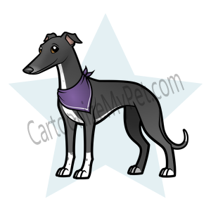 Here's the cartoon Italian Greyhound I made at Cartoonize My Pet!