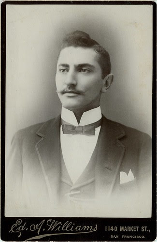 Man with bow tie, moustache