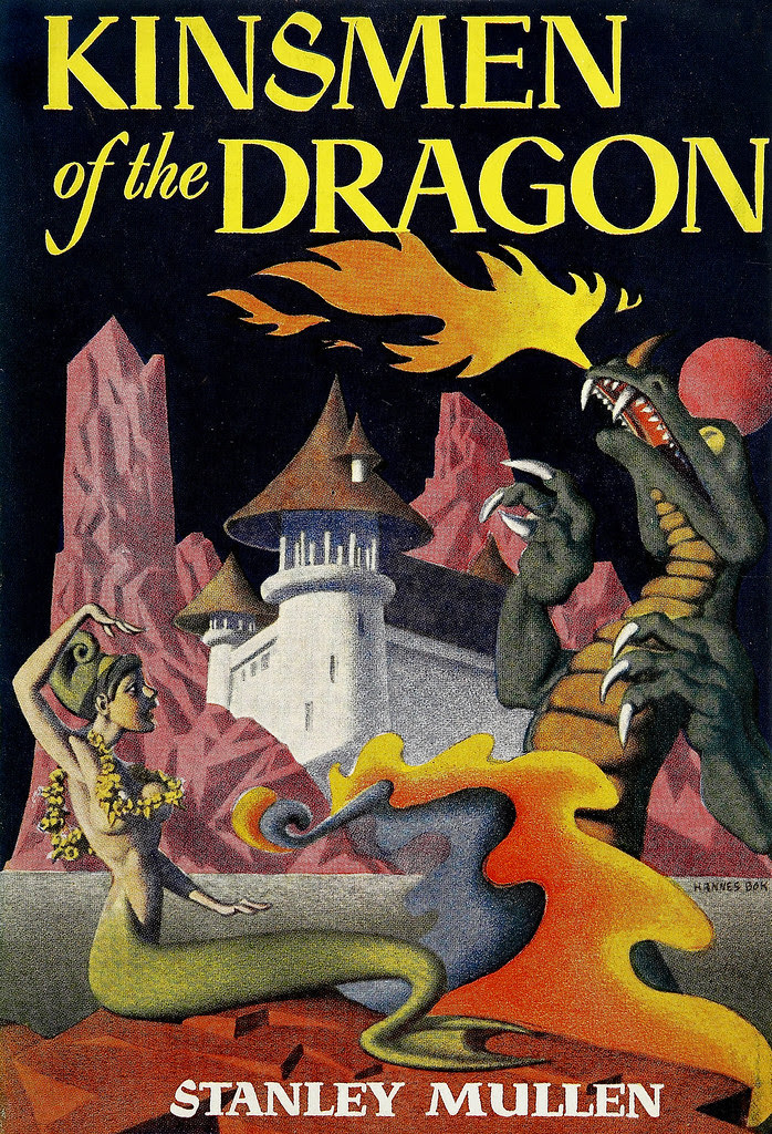 Hannes Bok - Kinsmen of the Dragon. (Stanley Mullen) Shasta Publishers, [1951].