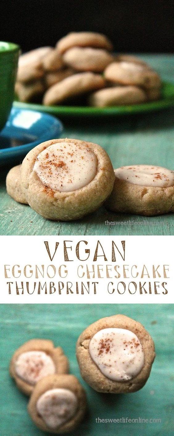 Eggnog Cheesecake Thumbprints