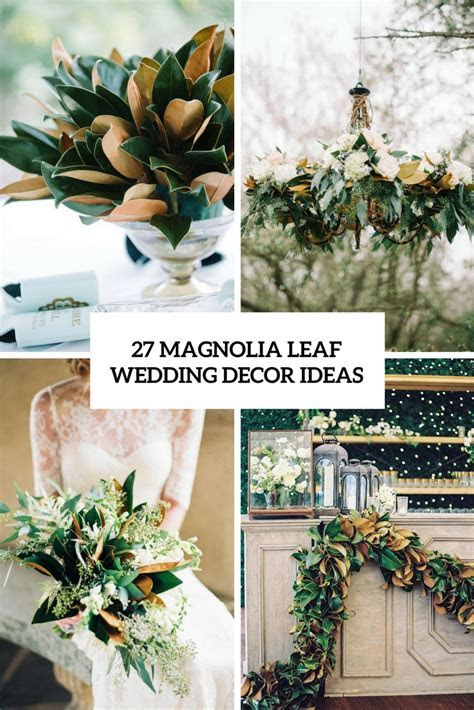 Christmas Table Decorations With Magnolia Leaves