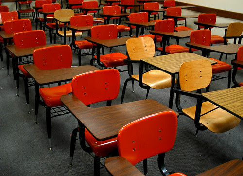 UF HHP Classroom Plastic Wooden Desks De by cdsessums, on Flickr
