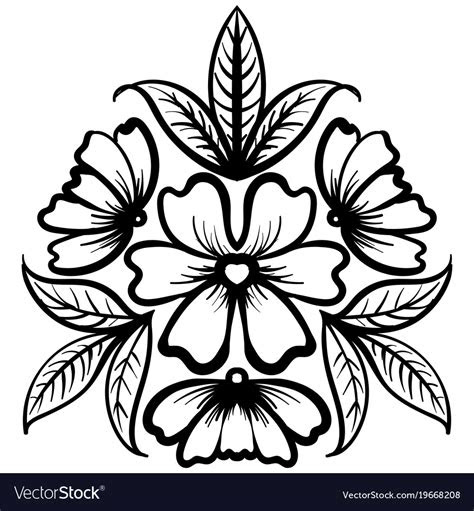 wild rose flowers drawing  sketch  art vector image