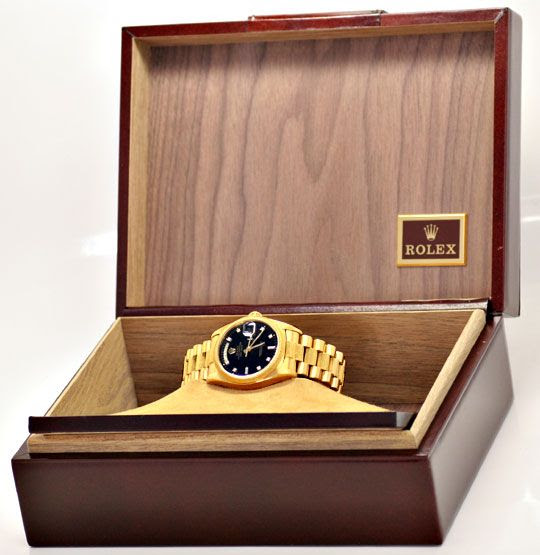 Originalfoto ROLEX DAY DATE RINDE DIAMANTZIFFERBLATT SCHWARZ 18.457€