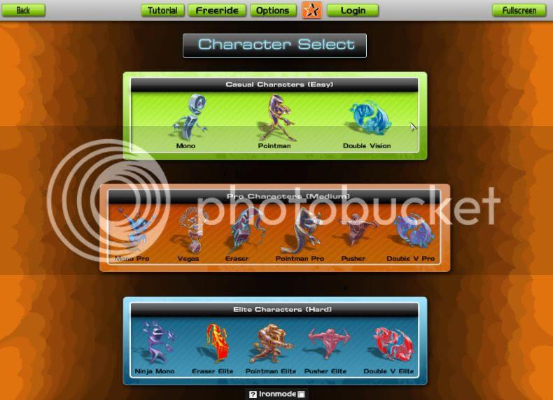 Audiosurf menu