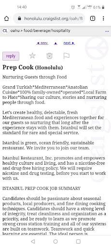 Craigslist Oahu Jobs Food - Craigslisst Craigslist ...