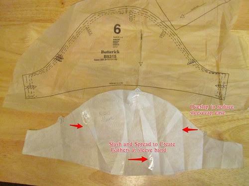 B5315 Gathered Sleeve