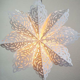 "24"" White Winter Frost Snowflake Paper Star Lantern"
