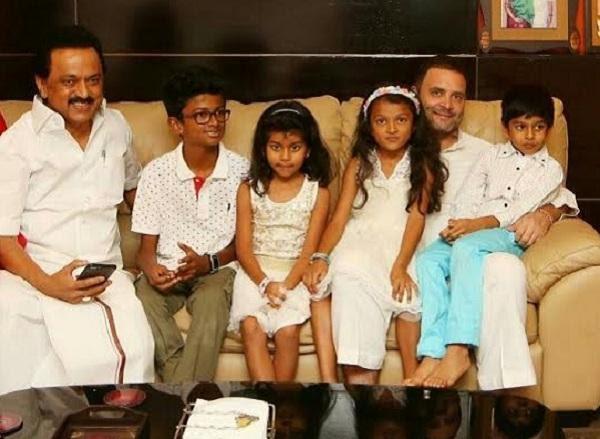 குழந்தைகளுடன் ராகுல்காந்தி