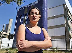 A dona de casa Kézia Alves, 44 anos, no Jaraguá