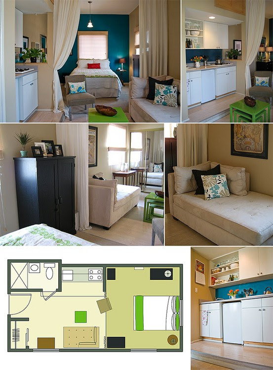 12 Tiny-Ass Apartment Design Ideas to Steal | Messy Nessy Chic ...