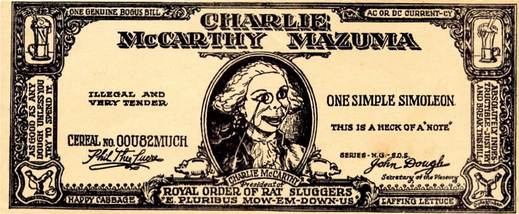 Charlie McCarthy Mazuma (recto)