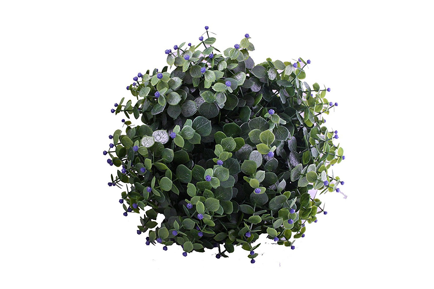 30cm artificial purple flower hanging topiary ball  The Artificial Flowers Company