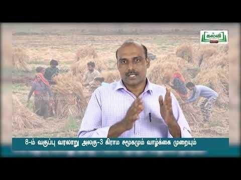 8th Social Science  கிராம சமூகமும் வாழ்க்கை முறையும் அலகு3 பகுதி1 Kalvi TV
