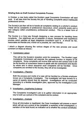 Law Society to SCC - Brief None on Draft Conduct Complaints Process Page 1