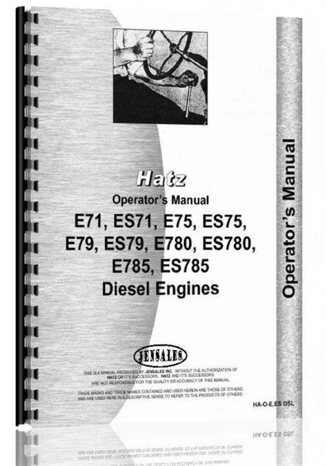 Hatz E71,ES71, E75, ES75, E79, ES79, E780, ES780, E785