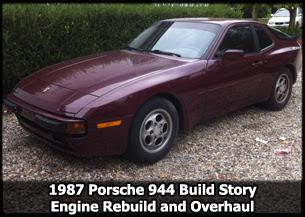 1987 Porsche 944 Engine Rebuild and Overhaul