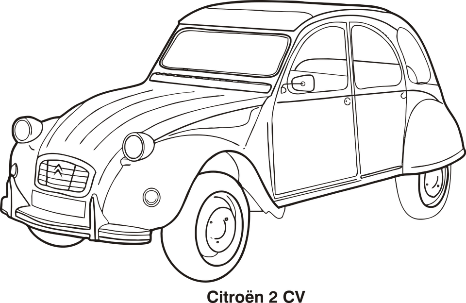Free vector graphic: Car, Car Outline, Cars, Citroen - Cars Coloring ...