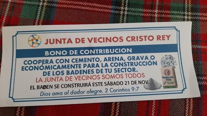 MORADORES DE CRISTO REY HACEN COLECTA PARA CONSTRUIR BADENES POR FALTA DE APOYO DEL AYUNTAMIENTO