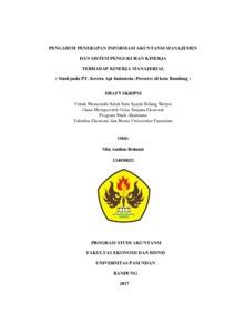 Contoh Skripsi Akuntansi Manajemen Pdf Contoh Soal Dan