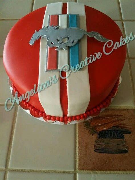 Ford Mustang Logo birthday cake   Birthday Celebration