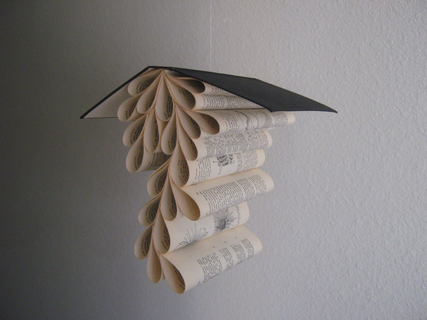 Book Mobile Upcycled from a Vintage Copy of Ocean by Ommanney from Oxford Press