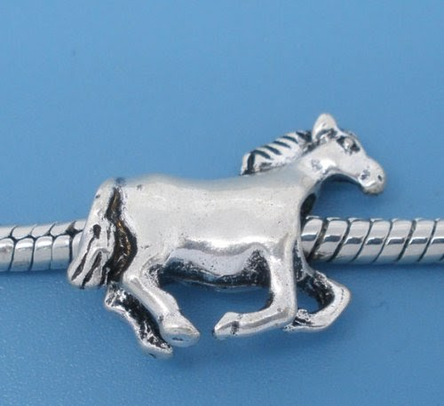 Animals (UK): Divine Beads Dala Horse Charm Bead fits Pandora, Biagi