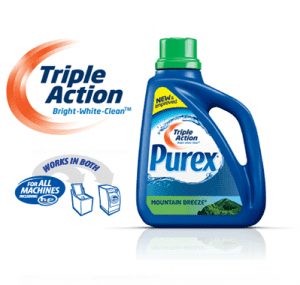 Triple Action Purex 300x285 FREE Sample Triple Action Purex Laundry Detergent!!
