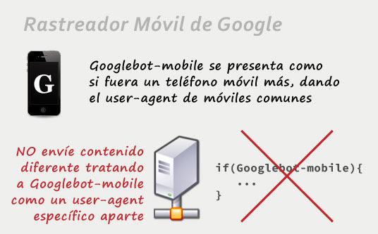 Rastreador para indexar versión móvil