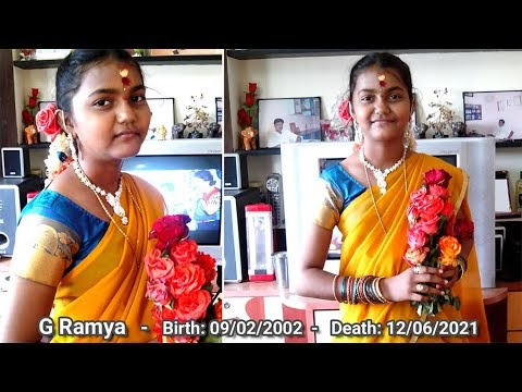 G Ramya -  Birth: 09/02/2002 - Death: 12/06/2021