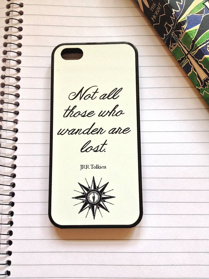 jrr tolkien quote case for iphone by literary emporium  notonthehighstreet.com