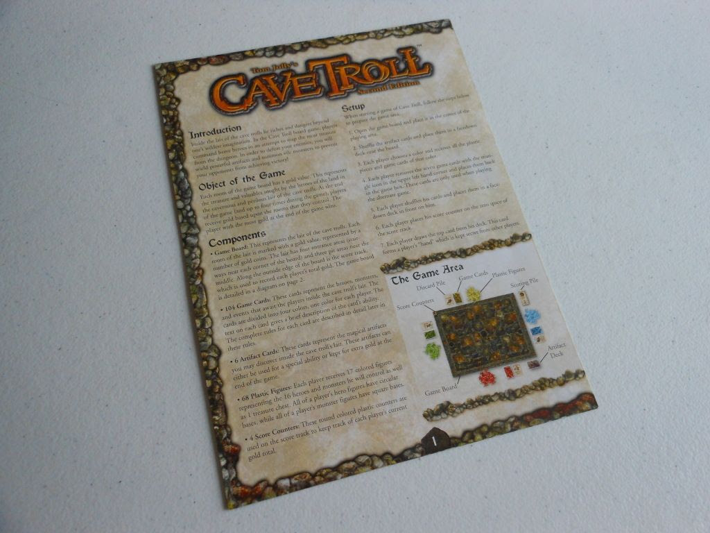 Cave Troll rule book