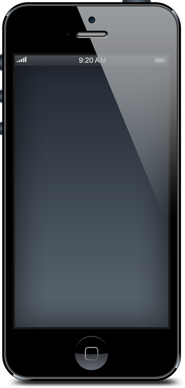 iPhone 5 black and white blank templates (PSD) - GraphicsFuel